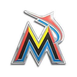 Miami Marlins CE3 Metal Chrome Color Auto Emblem Raised Deca