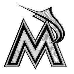 Miami Marlins Chrome Plastic 3D Decal MLB Baseball Team Auto