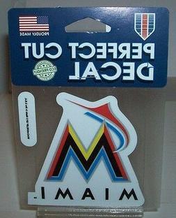 MIAMI MARLINS COLOR LOGO WINCRAFT 4X4 DECAL STICKER