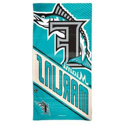 "MIAMI MARLINS COOPERSTOWN RETRO LOGO 30""X60"" SPECTRA BEACH T"