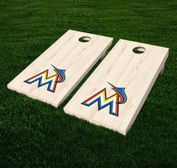 Miami Marlins Cornhole Decal Vinyl MLB Baseball Car Wall Set