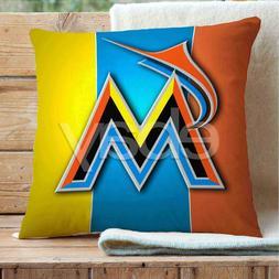Miami Marlins Custom Pillows Car Sofa Bed Home Decor Cushion