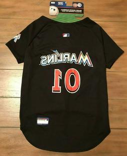 Miami Marlins Dog Jersey Shirt - XXL Black - Official MLB -