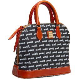 Miami Marlins Dooney & Bourke Black Zip Zip Satchel Handbag