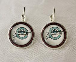 Miami Marlins Earrings made from Baseball Trading Cards Grea