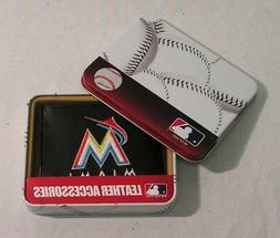 Miami Marlins Embroidered Black Leather Bi-fold Wallet