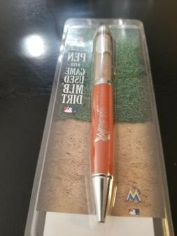 Steiner Sports Miami Marlins Executive Pen with Game-Used Di