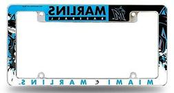 Miami Marlins EZ View All Over Chrome Frame Metal License Pl