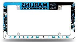 Miami Marlins EZ View All Over Chrome Frame Metal License Pl