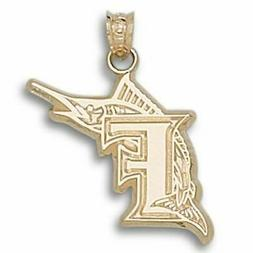 "Miami Marlins ""F"" 10 kt Gold Pendant"