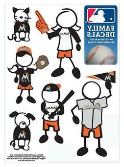 Miami Marlins Family Decals 6 Pack  MLB Small Auto Car Stick