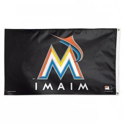 MIAMI MARLINS FLAG 3'X5' MLB BLACK MARLINS BANNER: FAST FREE