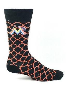 Miami Marlins Baseball Quatrefoil Design Black & Orange Logo