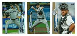 MIAMI MARLINS Gold Rainbow Foil Parallel 2020 Topps Series 1