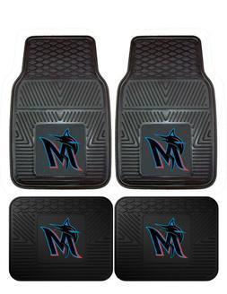 Miami Marlins Heavy Duty Vinyl Car, Truck, SUV Auto Floor Ma