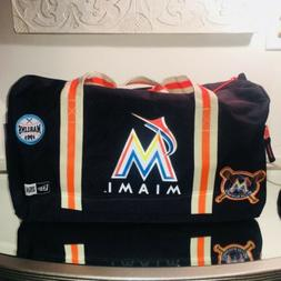 Miami Marlins New Era Heritage Patch Small Duffel Duffle Bag