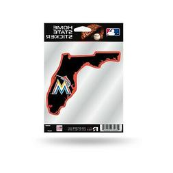 Miami Marlins Home State Sticker Flat Die Cut Decal Emblem A
