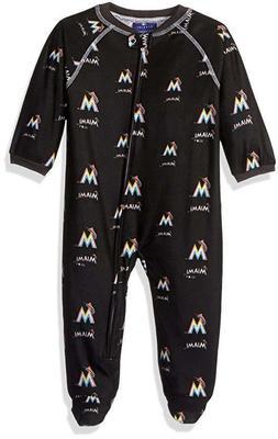 MLB Miami Marlins Infant Baby Boys Team Printed Sleepwear Co