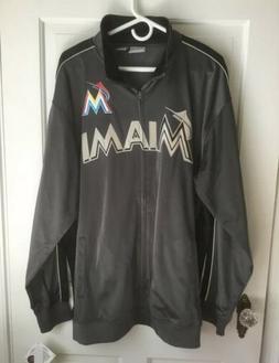 Miami Marlins Jacket Gray Men's Big & Tall Size 2XT 2XL Fu
