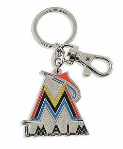 Miami Marlins Keychain Metal Heavyweight Key Ring MLB Aminco
