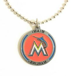 MIAMI MARLINS LARGE PENDANT NECKLACE 21210A new baseball spo