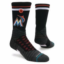 Stance Miami Marlins Logo Diamond Pro Crew Socks Large 9-12