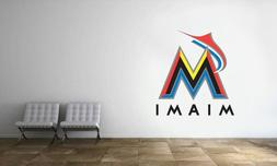Miami Marlins Logo Wall Decal MLB Baseball Decor Sport Art M
