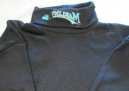 Miami Marlins Long Sleeve Turtle Neck T-Shirt Small Embroide