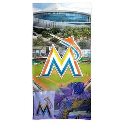 "MIAMI MARLINS MARLINS PARK 30""X60"" SPECTRA BEACH TOWEL NEW W"
