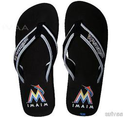 Miami Marlins Men's Mesh Cotton Officially Licensed Flip Flo