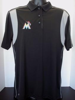 Miami Marlins Men's Majestic Stitched Logo Golf Polo - NWT -