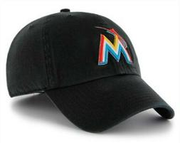 miami marlins mens relaxed fit adjustable clean