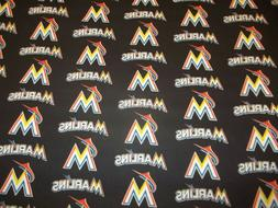 MIAMI MARLINS  MLB 100% COTTON 1/2  YARD  PIECE  BRAND NEW D