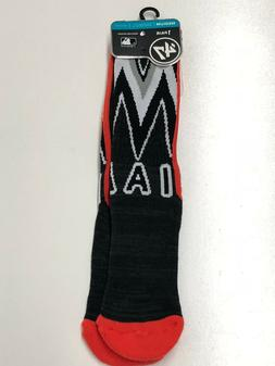Miami Marlins MLB Arena Crew Socks Size Medium '47 New Shoes