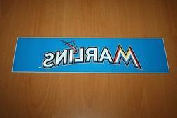 "Miami Marlins - MLB Baseball - Bumper Sticker - 11.50"" x 3.0"