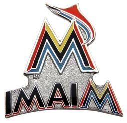Miami Marlins MLB Baseball Logo & Script Design Sports Pin L