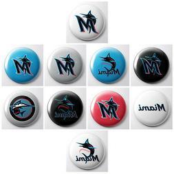 MIAMI MARLINS - MLB baseball pinback buttons - sports pin -