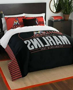 Miami Marlins MLB Baseball Full Queen Size Bed Comforter Pil