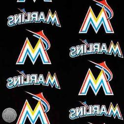 Miami Marlins MLB Cotton Fabric 6686 B