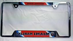 MIAMI MARLINS MLB LICENSE PLATE FRAME Chrome Metal Auto Tag