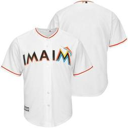 Miami Marlins MLB Mens Majestic Cool Base Replica Jersey Whi
