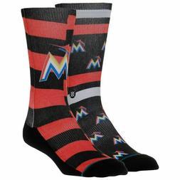 Stance Miami Marlins MLB Mens Socks Sz Medium 6-8.5 Marlins