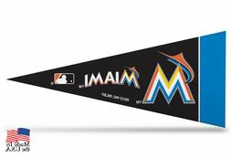 "Miami Marlins MLB Mini Pennant 9""x4"", New, Felt, Made in USA"