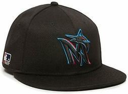 Miami Marlins MLB OC Sports Black 2019 Flat Brim Hat Cap Adu