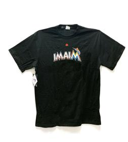 miami marlins mlb on field home tee