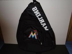 Miami Marlins MLB Sling Book Bag Backpack 20x12x7 NWT