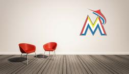 Miami Marlins MLB Wall Decal Home Decor Vinyl Sticker Sport