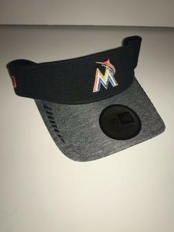Miami Marlins New MLB Era Black Speed Performance Visor Shad