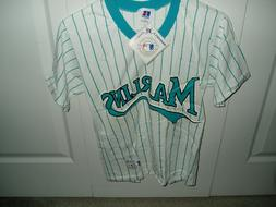 Miami Marlins NWT NL East pullover jersey licensed Russell b