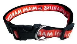 Pets First Miami Marlins Nylon Pet Collar - MLB Official - S